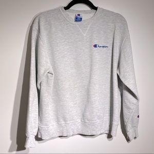 Champion Classic Vintage Gray Logo Sweatshirt